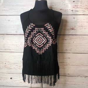 Tops - Fringe Racer Style Top Small